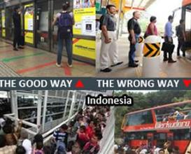 No social mentality in Indonesia